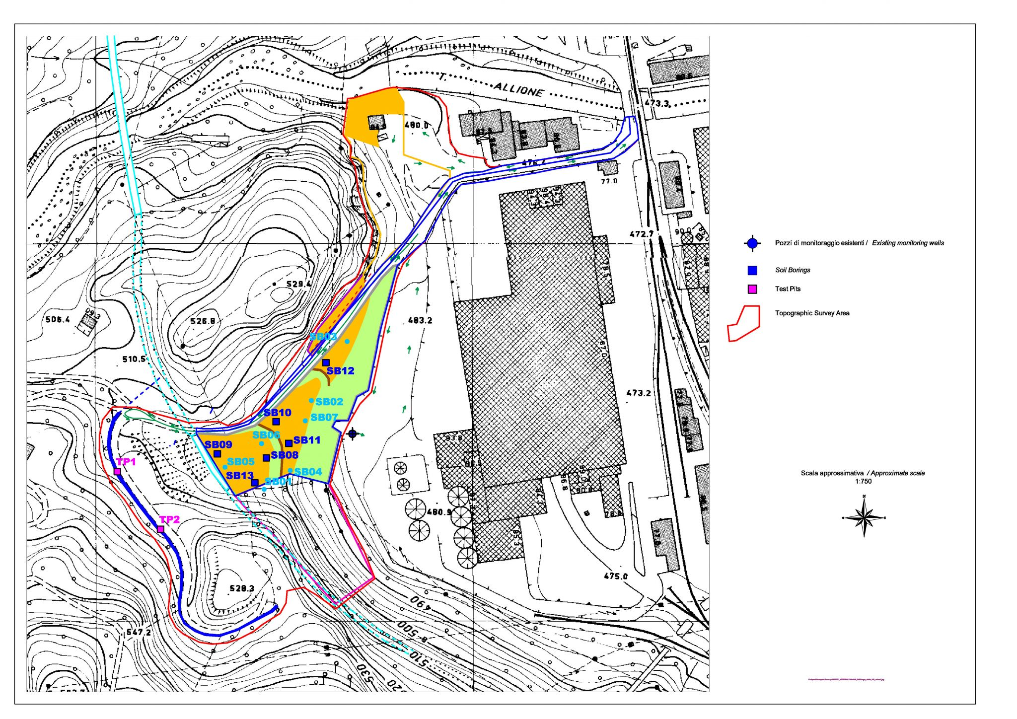 tethys -consulenza ambientale e idrogeologica - messa in sicurezza discarica industriale zona montana